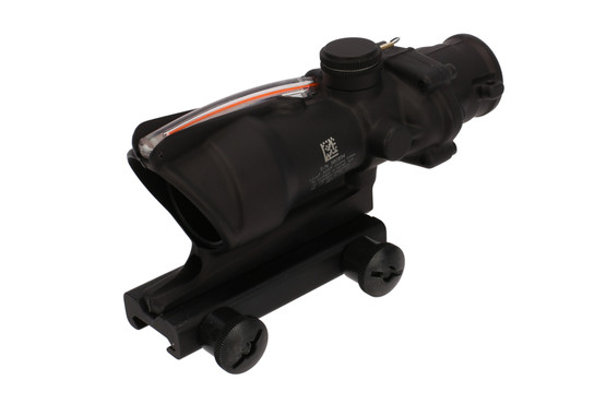 The ACSS Aurora ACOG magnified scope with red reticle has a durable construction for use in any environment