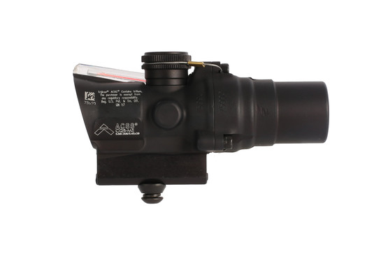 Trijicon red ACOG 1.5x16mm compact scope with ACSS CQB-M5 reticle features a tall base for AR-pattern rifles