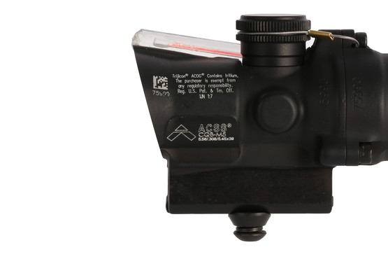 Trijicon ACOG compact 1.5X16S red compact rifle scope has a tall base and the ACSS CQB-M5 reticle has a 16mm objective