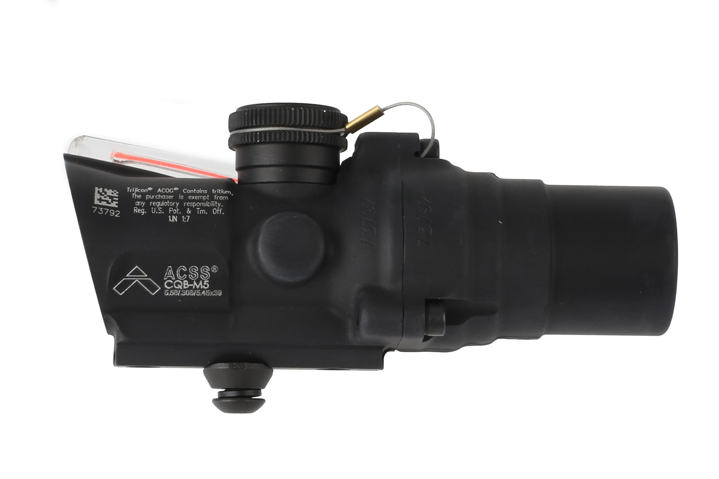 Trijicon ACOG 1.5x16S low with ACSS CQB-M5 reticle is a compact prism scope with exceptional glass clarity and red illumination