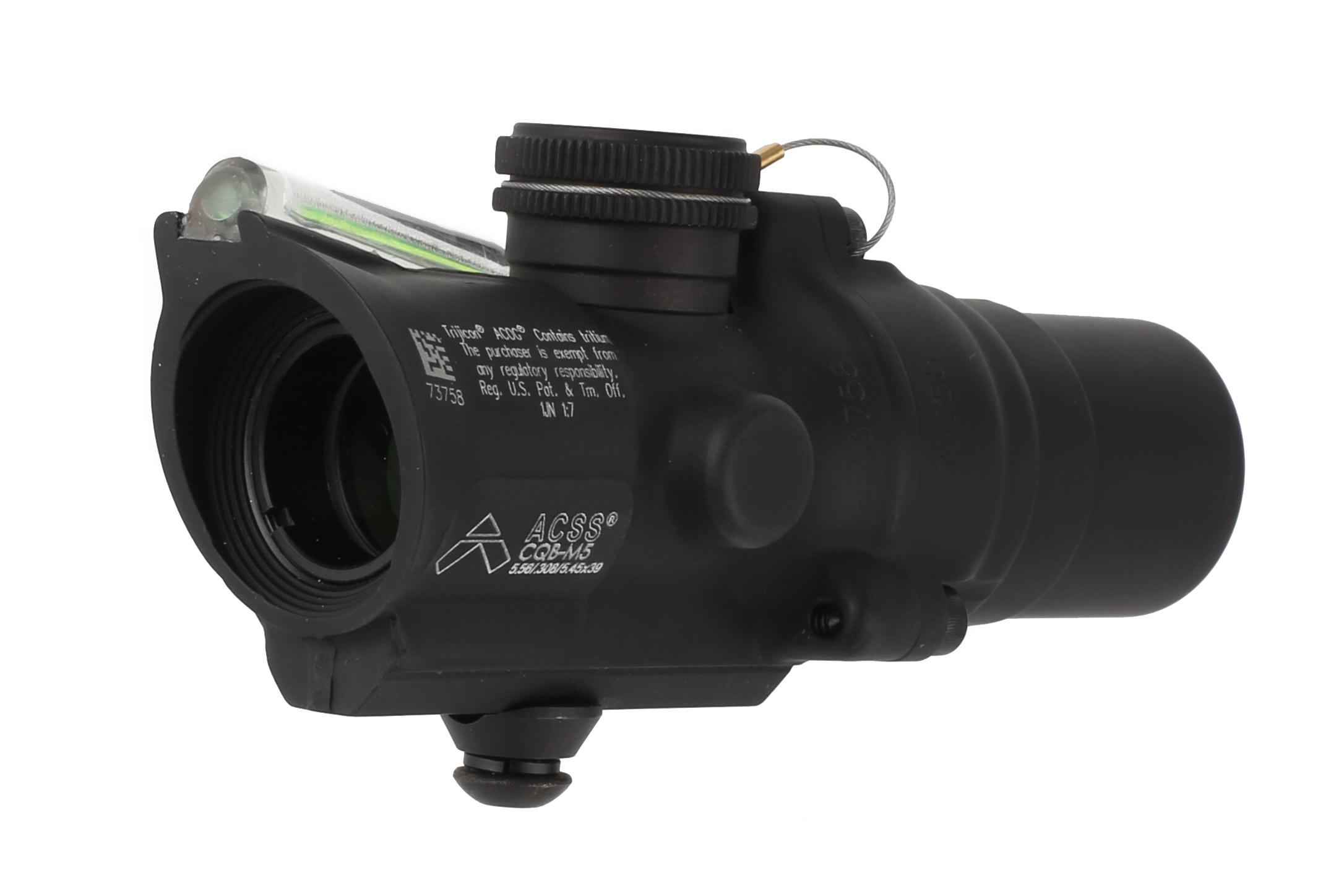 Trijicon mini ACOG 1.5x16mm compact combat scope features a dual-illuminated green ACSS CQB-M5 reticle and low base