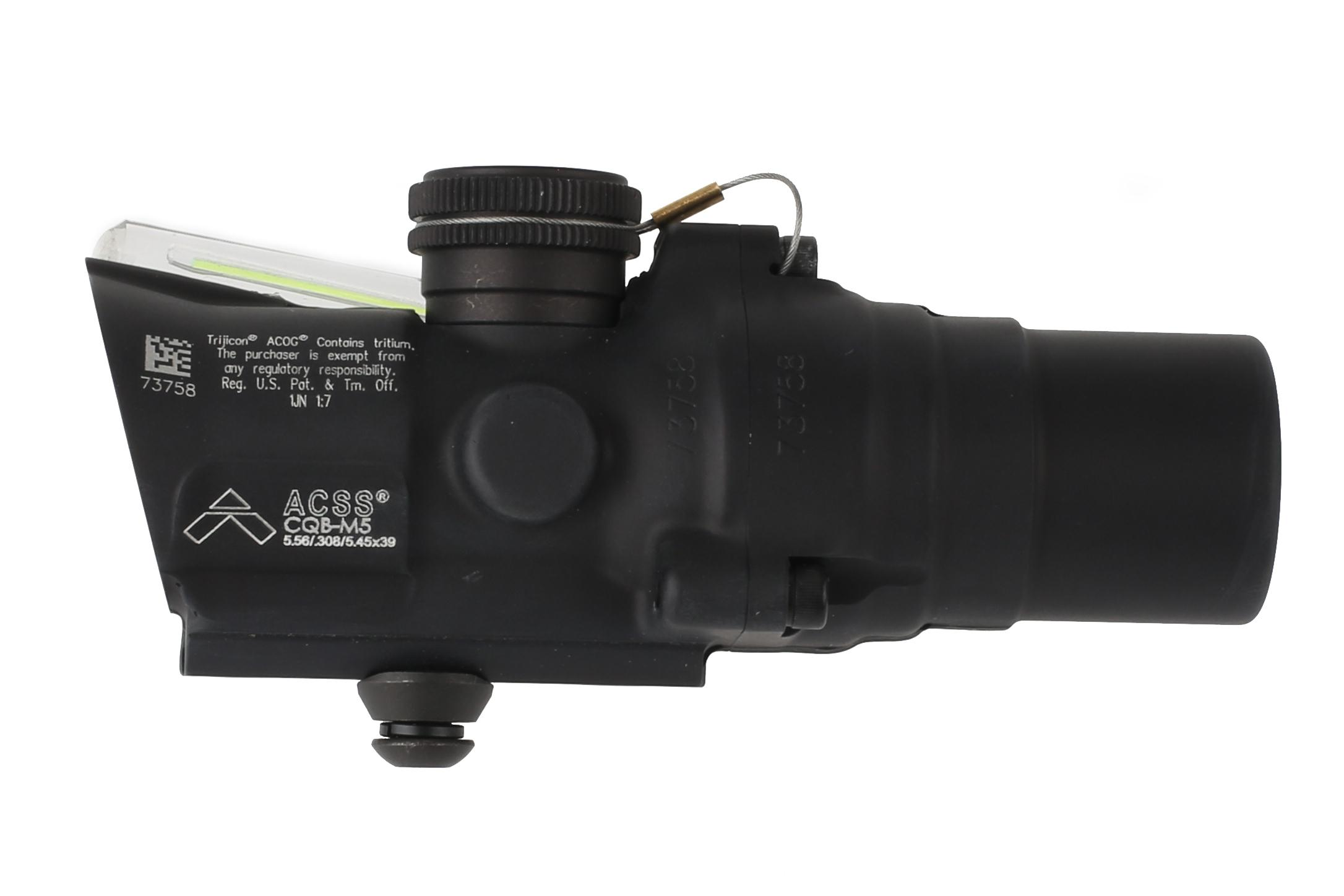 Trijicon green ACOG 1.5x16mm compact scope with ACSS CQB-M5 reticle features a tall base for AR-pattern rifles