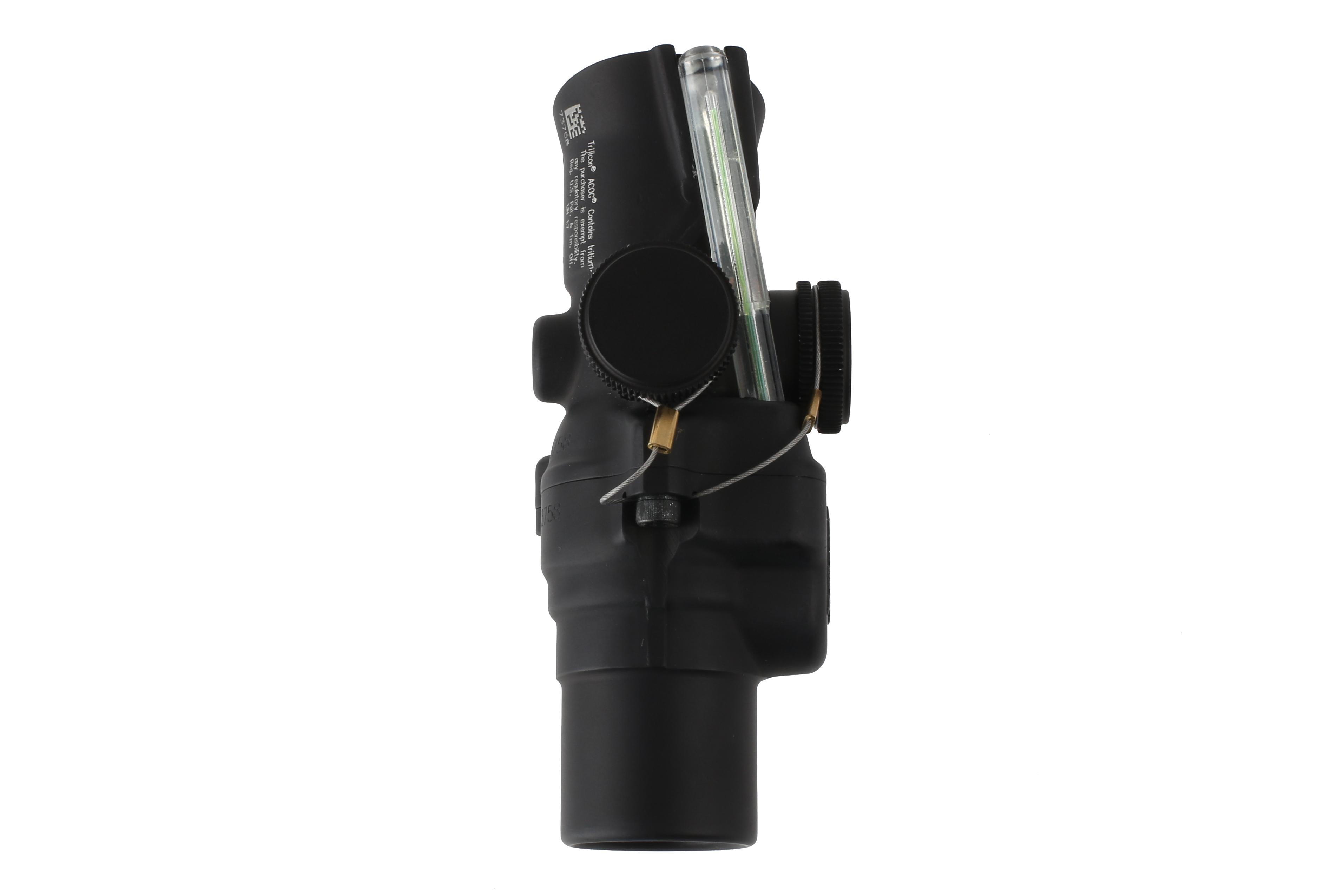 Trijicon 1.5x compact ACOG with low base and green illuminated ACSS CQB-M5 reticle is just 4 inches long and 5.1 oz