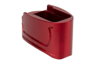 Tyrant Designs M&P Shield Mag Extension features a red anodized finish