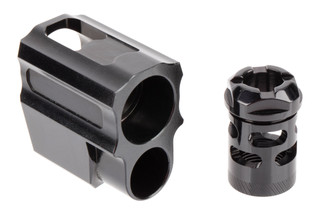 Tyrant Designs SIG P320 Compensator features a black on black finish