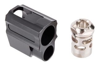 Tyrant Designs SIG Sauer P320 Compensator features a nickel finish