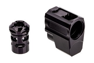 Tyrant Designs SIG P365 T-Comp features a black anodized finish