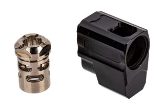 Tyrant Designs P365 Compensator features a nickel finish