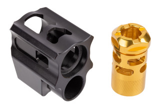 Tyrant Designs Glock T-Comp Compensator Gen 4 features a gold finish