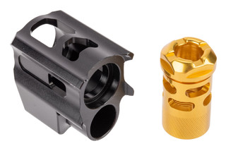 Tyrant Designs Glock T-Comp Gen 5 Compensator features a gold finish