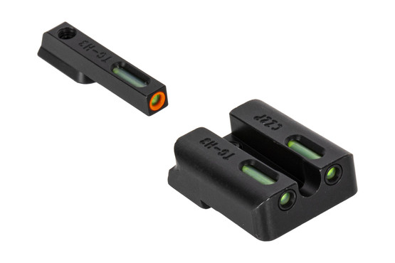 The Truglo TFX Pro CZ P10 Night Sight Set features an orange outline with green Tritium inserts