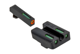 The Truglo TFX Pro Glock Night Sight Set features Green Tritium with an Orange front sight ring