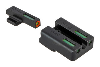 The Truglo TFX Pro H&K VP9 night sight set features green tritium and an orange outline