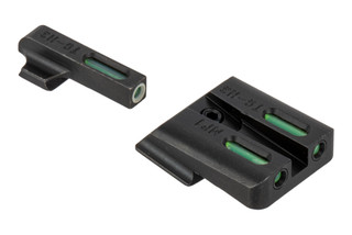 The Truglo TFX Smith and Wesson M&P Night Sight Set features green tritium with a white outline