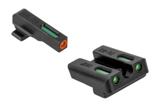 The Truglo TFX Pro Sig Sauer Night Sight Set features an orange outline with green Tritium inserts