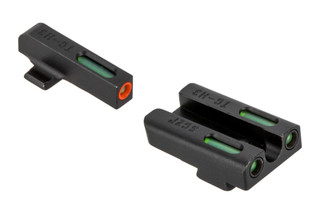 The Truglo TFX Pro Sig Sauer P238 Night Sights Set comes with an orange front and gren tritium inserts