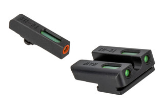 The Truglo TFX Pro Sight Set for the Walther PPQ features green Tritium and an orange front sight