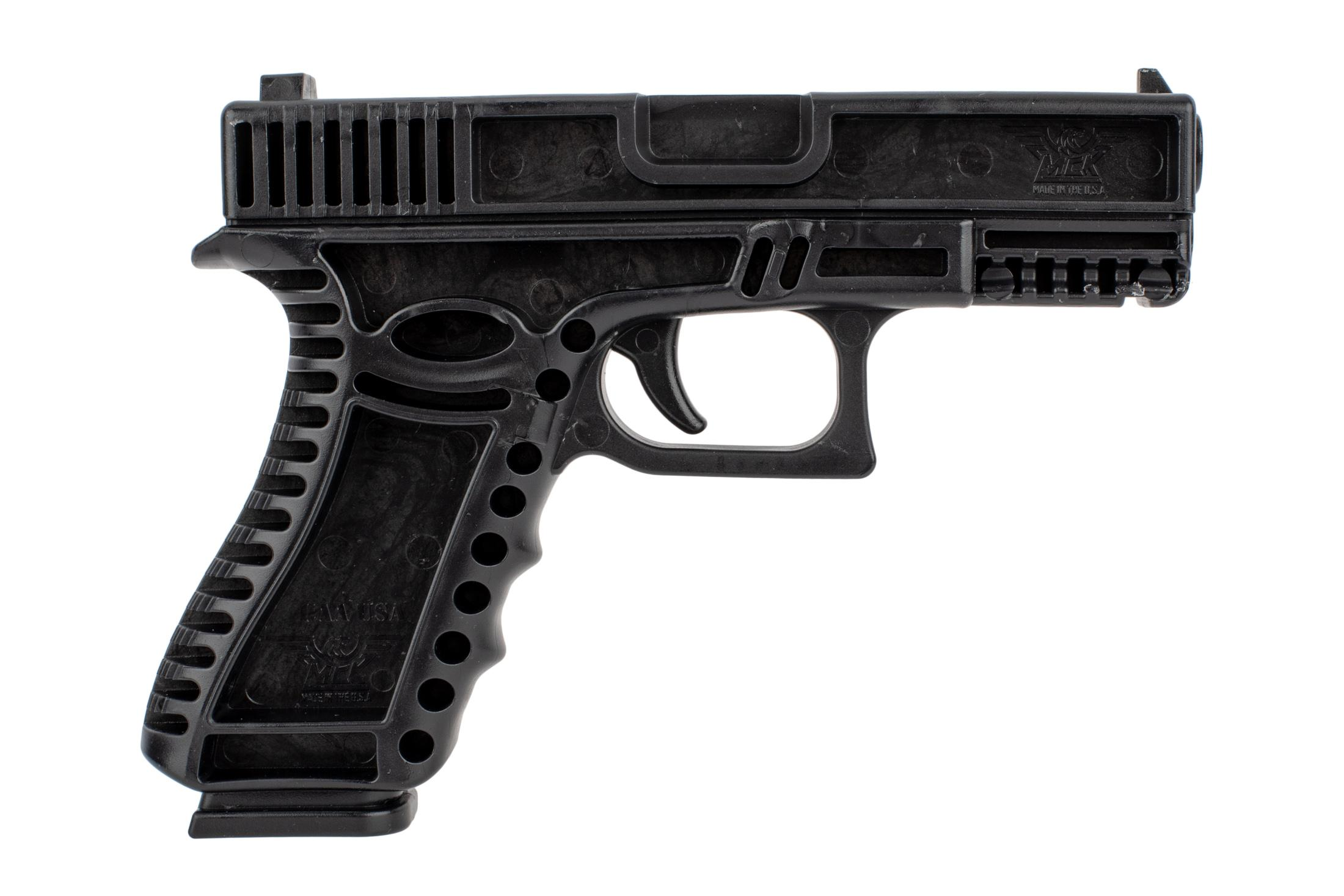 CAA black training handgun is modeled after the highly popular Glock G19 compact handgun for familiar ergonomics.