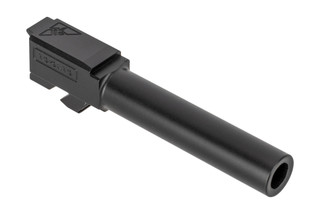 Tactical Kinetics Glock 19 aftermarket barrel features a black Nitride finish and target crown