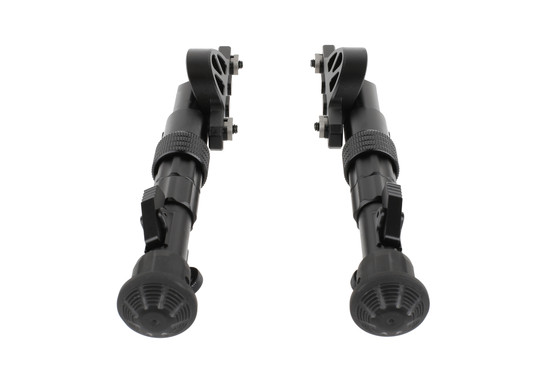 The Leapers UTG Recon Flex M-LOK bipod uses rubberized feet for traction on any surface