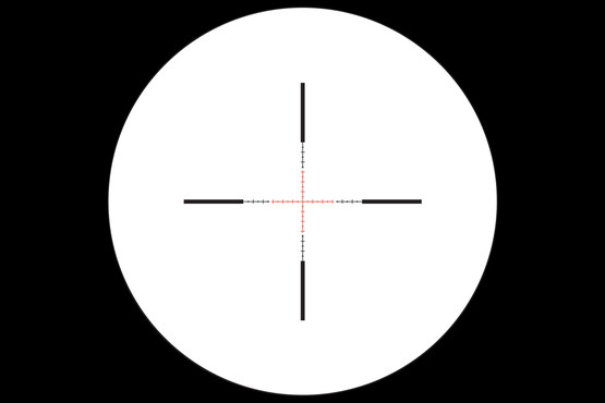 Tenmile 6-24x50 riflescope features the Red MRAD ranging reticle in a second focal plane design
