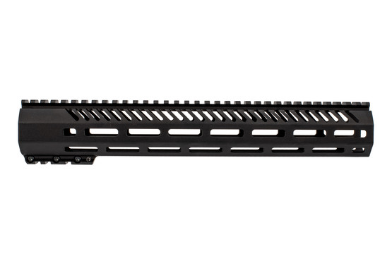 Mission First Tactical M-LOK Handguard features a black hardcoat anodized finish