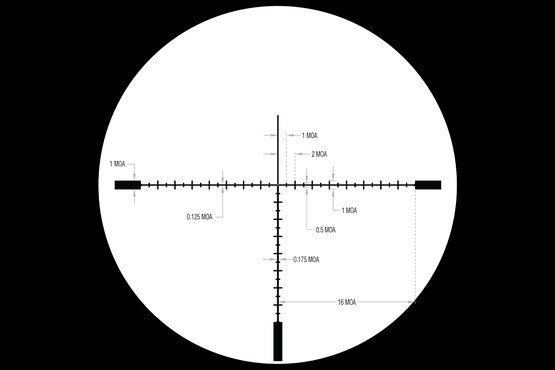 Trijicon Tenmile HX 6-24 long range scope features MOA ranging markings