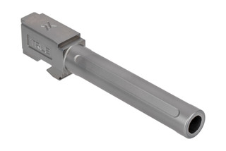 TRUE Precision Glock 17 barrel is lightly fluted, cut from 416R stainless steel, and finished with a slick Satin stainless