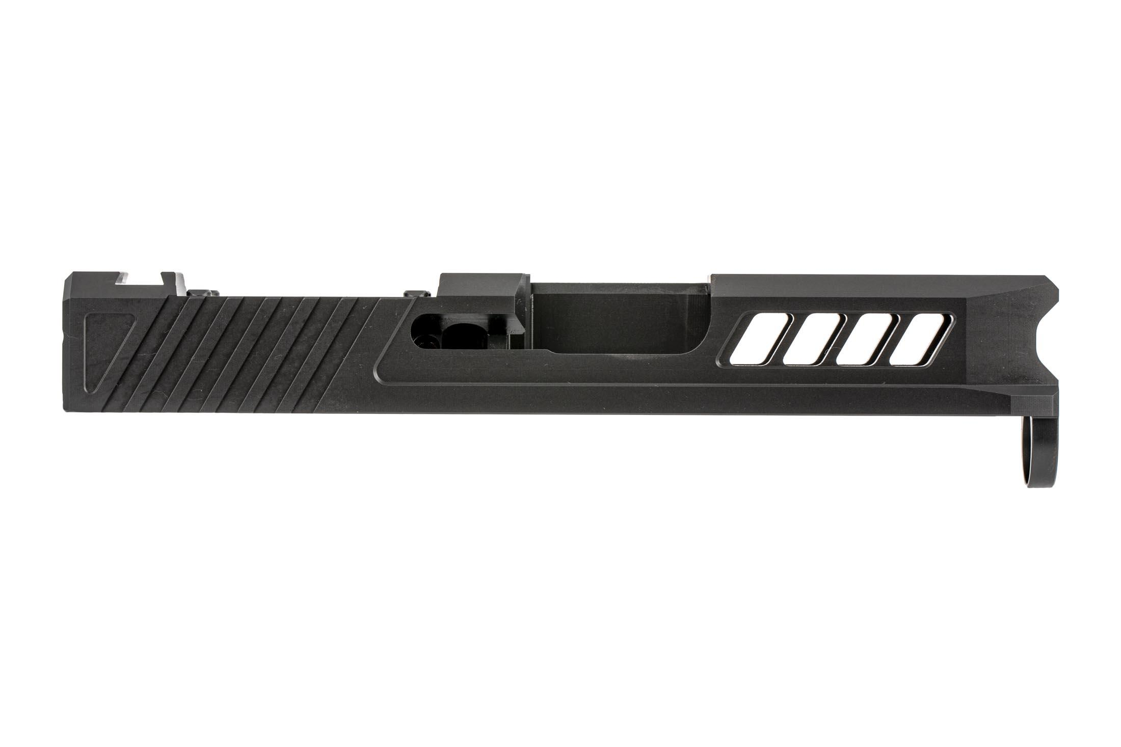 TRUE Precision RMSc optic cut AXIOM glock slide features top and side cut windows for reduced mass on G43 and G43x handguns