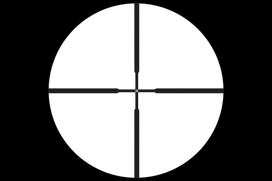 AccuPoint 5-20x Trijicon rifle scope features the Duplex reticle with Green center dot