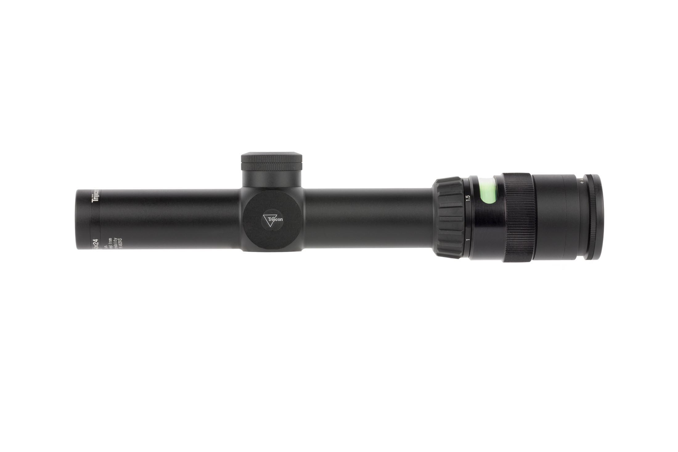 Trijicon Green TR24 illuminated rifle scope with triangle post is lightweight with a smooth magnification range from 1x - 4x