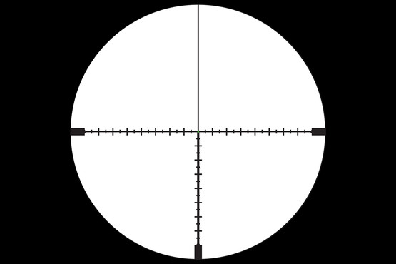 Accupoint 5-20x50 optic with MOA ranging crosshair reticle is designed for long range precision