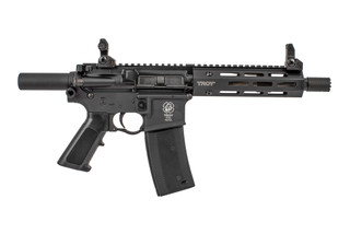 Troy Industries P7A1 AR15 Pistol features a 7.5 inch 5.56 barrel