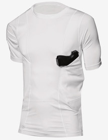 Tru-Spec concealed carry shirt in white from front