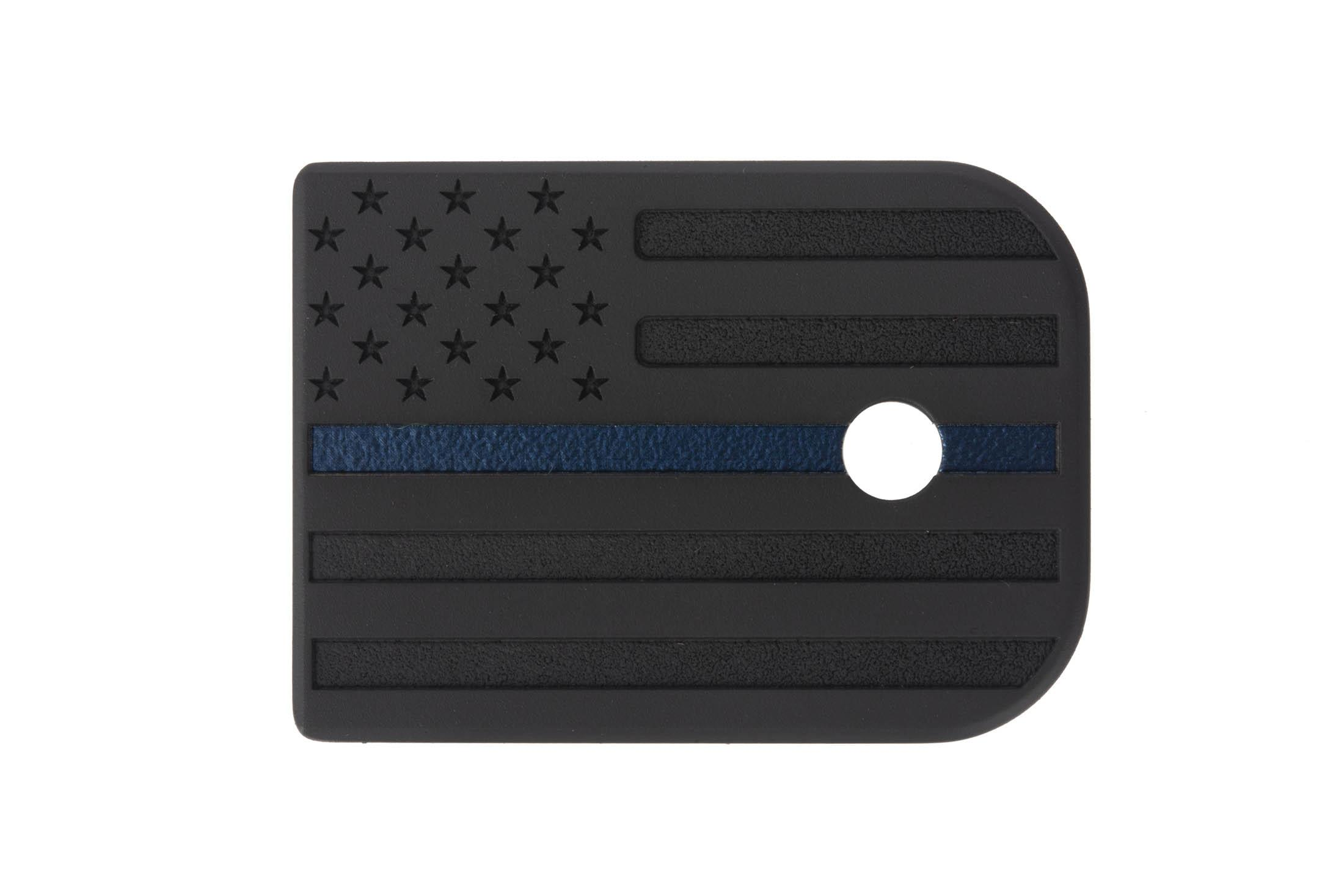 This Classy Raptor Tactical Titanium Glock Magazine Plate features an American Flag design