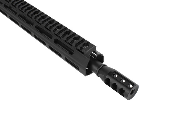 Tiger Rock's 16in 300 BLK Complete Upper Receiver for the AR-15 is threaded 5/8x24 and equipped with an effective muzzle brake