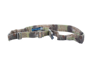 Blue Force Gear UDC 1 Point Sling with QD sling swivel adapter features a Kryptec Highlander pattern