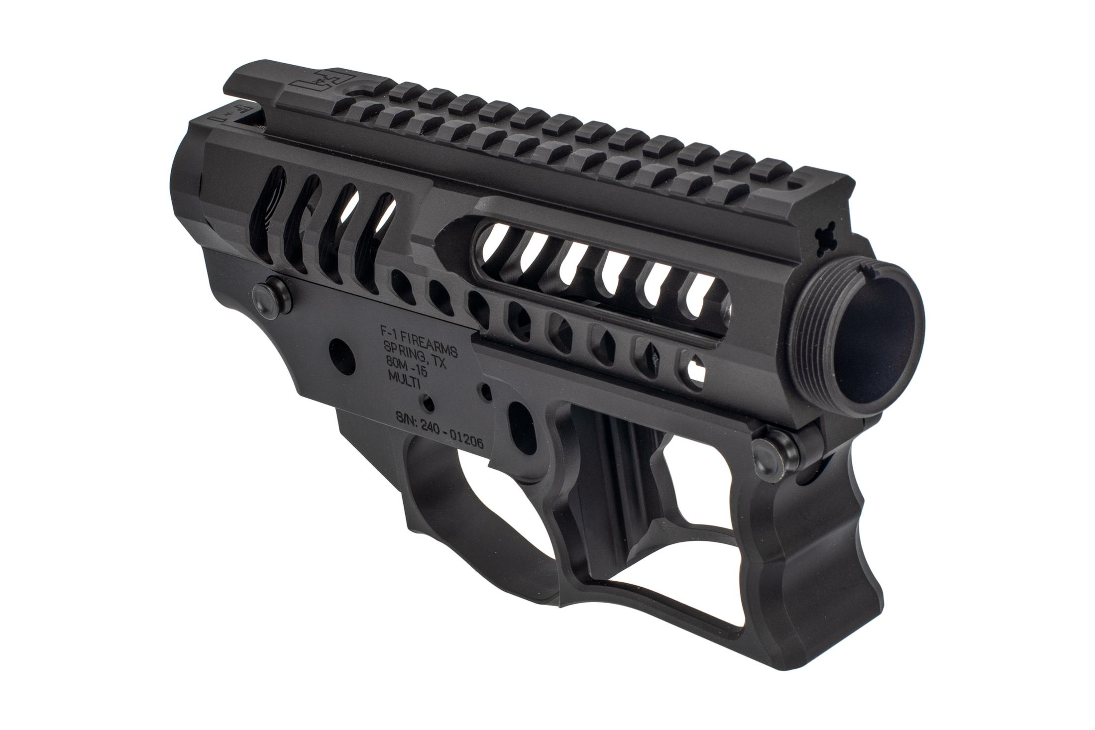 F1 Firearms UDR-15 Skeletonized AR15 receiver set is machined from a billet of 7075-T6 aluminum