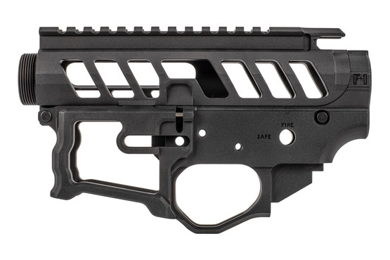 F 1 Firearms UDR-15 style 2 billet receiver set features a scalloped picatinny top rail