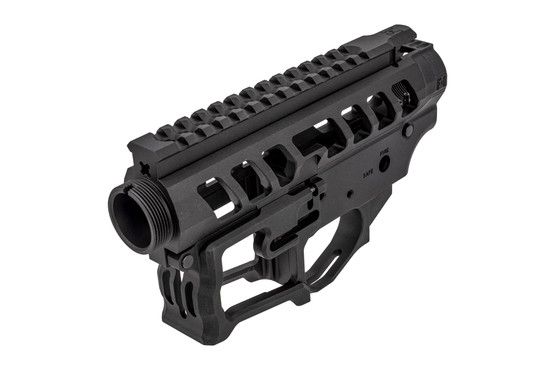 F1 firearms skeletonized receiver set UDR-15 3G style 2 features a beveled magazine well