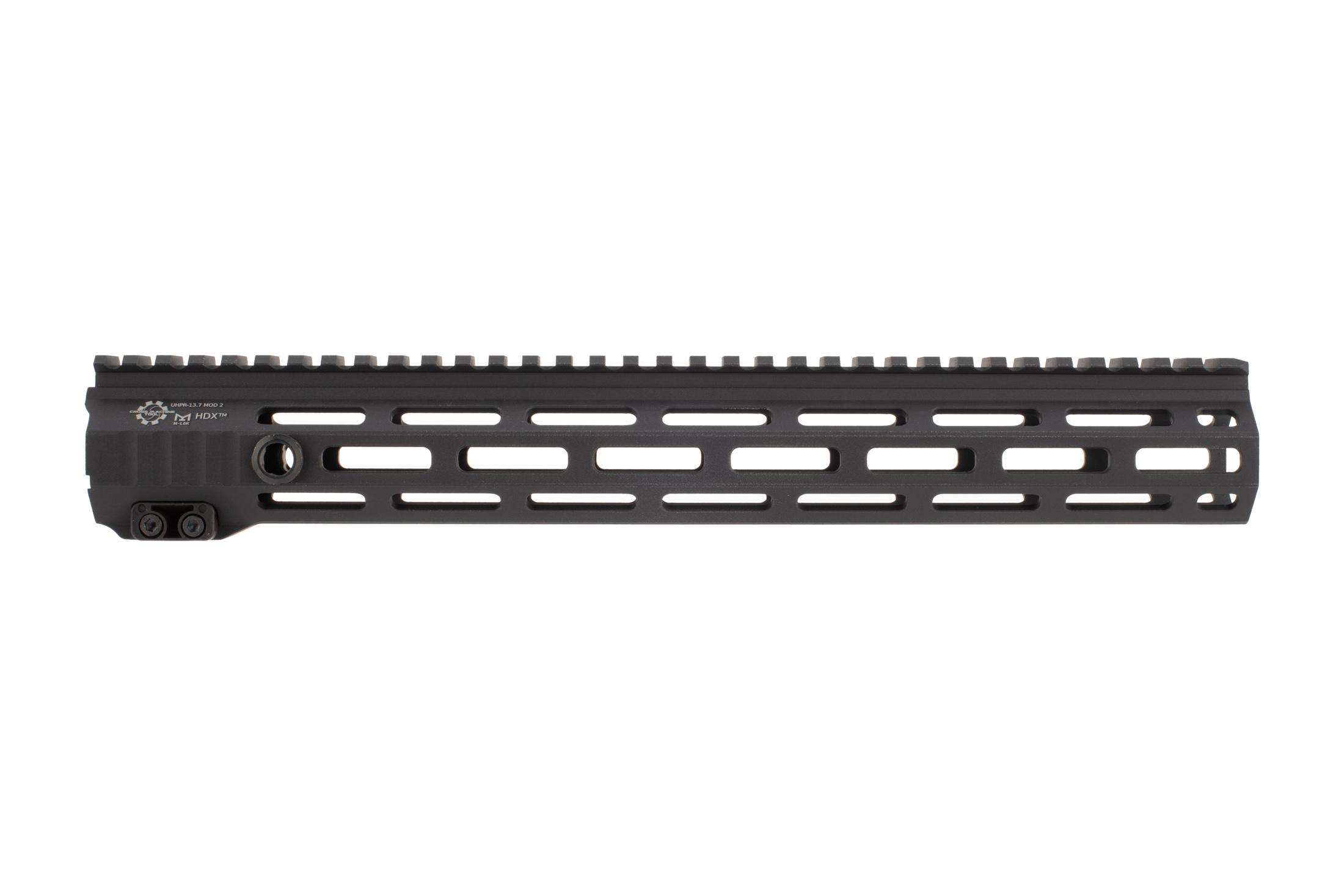 The CMT UHPR Mod 2 HDX Free float handguard features M-LOK slots on three sides