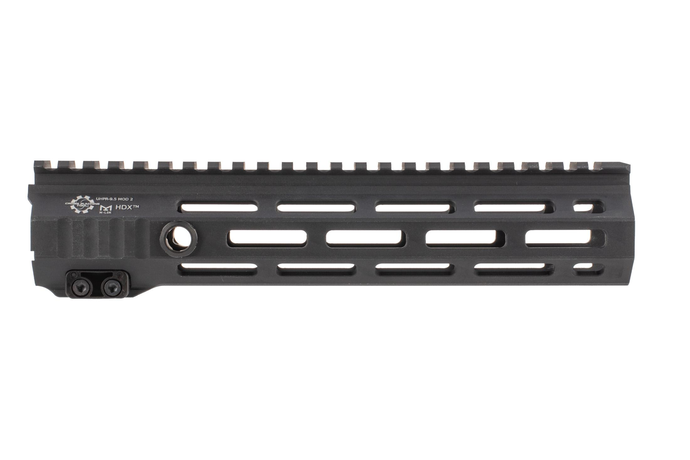 The Cross Machine Tool UHPR Mod 2 HDK 9.5 AR15 handguard features QD sling swivel sockets