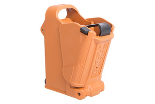 The Maglula UpLULA speed loader brown is compatible with a wide range of pistol magazines from 9mm to .45 ACP