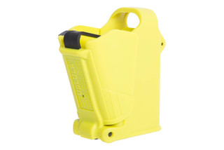 The Maglula Magazine Loader in Lemon Yellow is universally compatible with a wide range of pistol magazines