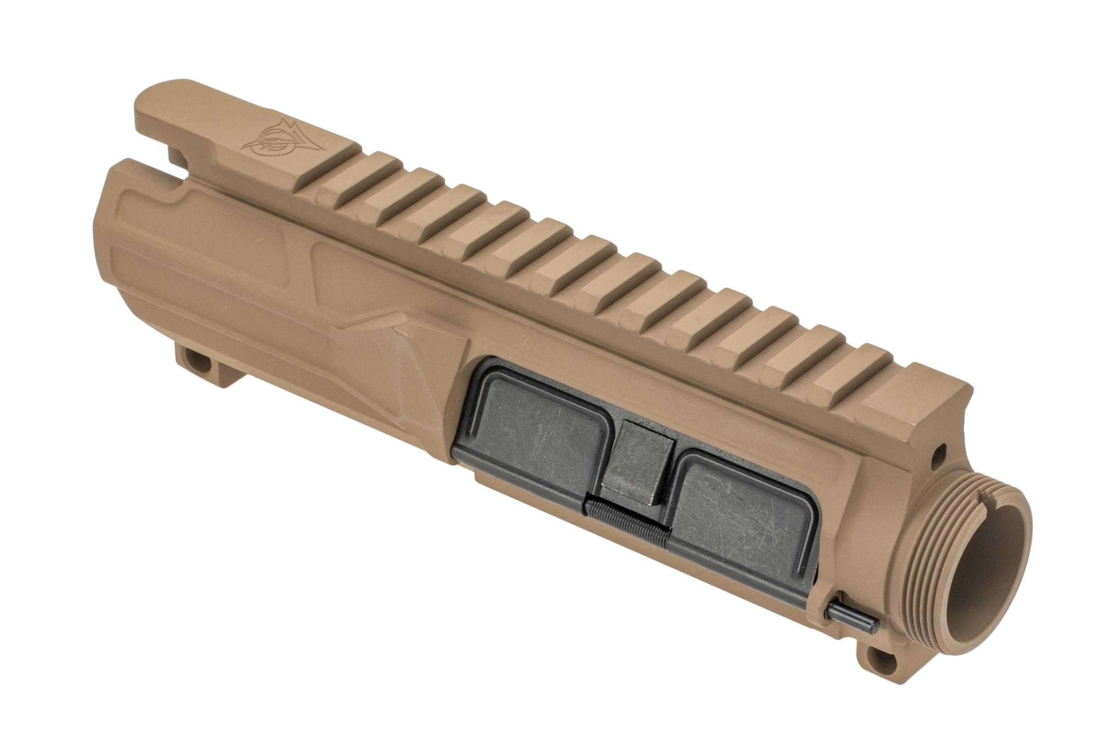 Odin Works AR15 billet upper receiver group features a flat dark earth cerakote finish