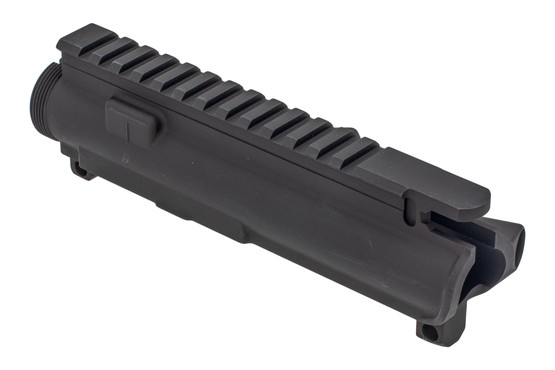 XTS AR 15 stripped upper receiver with black hardcoat anodized finish