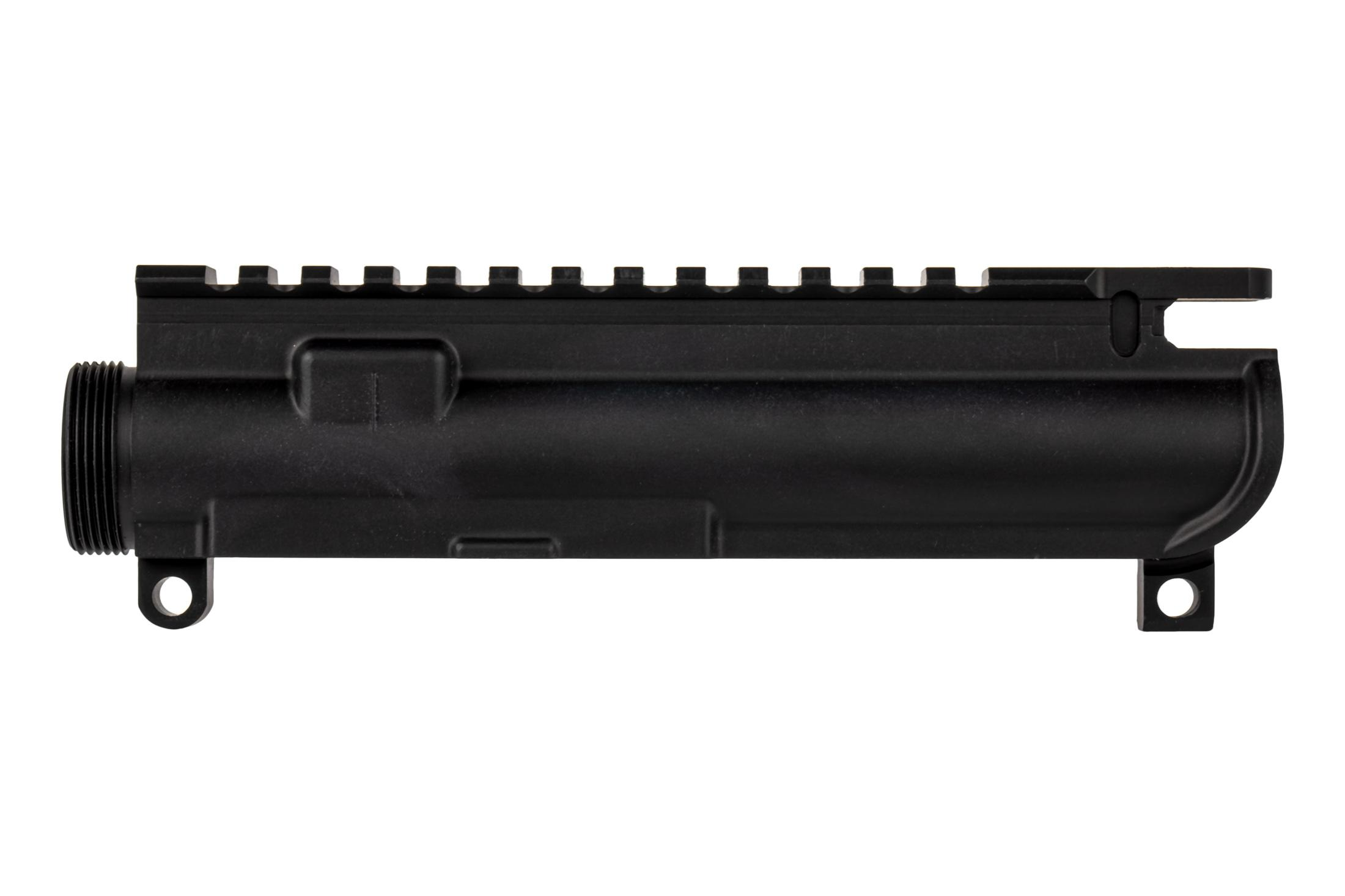 BCA stripped MIL-SPEC AR 15 upper receiver accepts standard components and accessories.