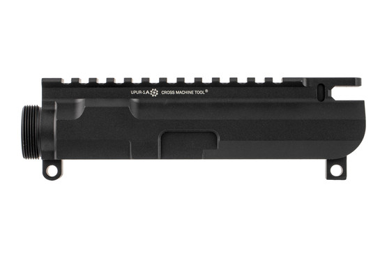The Cross Machine tool AR15 billet stripped upper receiver features a flat top picatinny rail