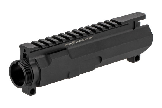 The CMT AR15 458 SOCOM upper receiver stripped features engraved t-marked picatinny rails