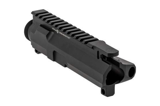 The CMT stripped billet AR upper receiver is compatible with Mil-Spec parts